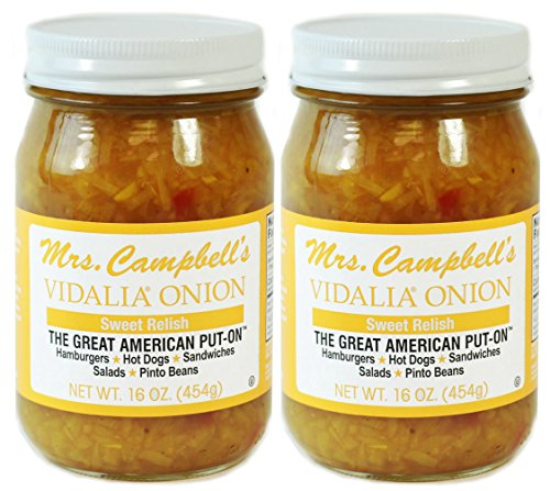 - Mrs. Campbell's Vidalia Onion Sweet Relish, 16 Oz Glass Jar (Pack of 2)