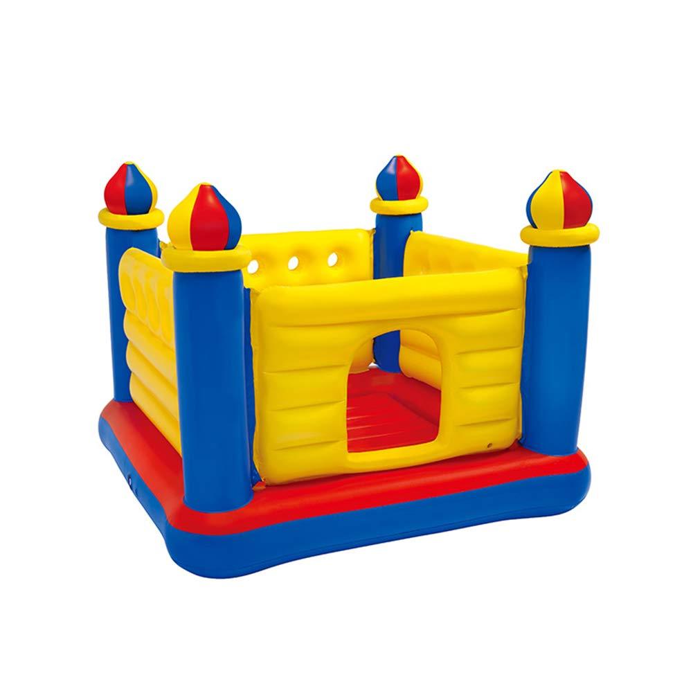 子 膨らませて 家庭 トランポリン 屋内 ゲームハウス 城 おもちゃ 安全性 居心地の良い 小規模 ジャンプいたずら城   B07QLLFQ59