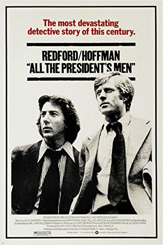 HSE all the PRESIDENTS MEN vintage movie poster REDFORD & HOFFMAN classic 24X36 (reproduction, not an original)