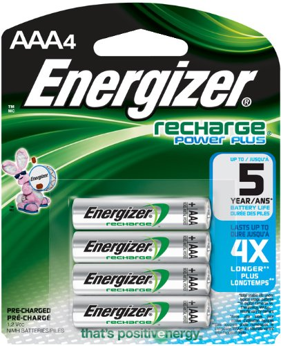 Energizer Recharge  Universal 1400 mAh Rechargeable AAA Batteries, Pre-Charged, 4 count