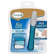 Amopé Pedi Perfect Nail Care System - Electronic Manicure/Pedicure Tool -File, Buff, Shine Nails, Blue