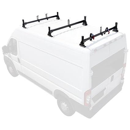 0bf0298dc119 Amazon.com  Aluminum H1 3 Bar Van Rack System for RAM ProMaster 2013-On  Black  Automotive