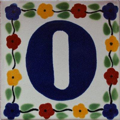 2 pcs Bouquet Talavera Tile Number Zero