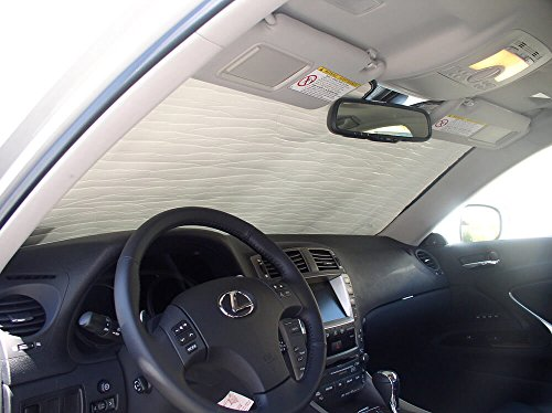 (The Original Windshield Sun Shade, Custom-Fit for Lexus IS250 Sedan 2006, 2007, 2008, 2009, 2010, 2011, 2012, 2013, Silver)