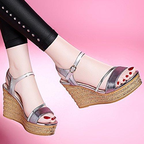 de damas Zapatos Golden de UE sandalias sandalias verano sandalias RUGAI sandalias mujer de sandalias f7ZqqwE
