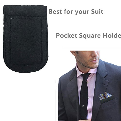 ALLENLIFE Pocket Square Card Holder, Men's Suit Handkerchief Keeper for Man's Suits (4 Pack) by ALLENLIFE (Image #1)