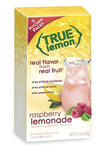 Pack Raspberry (True Lemon Raspberry Lemonade Drink Mix 5 Pitcher Packs 60g Box)