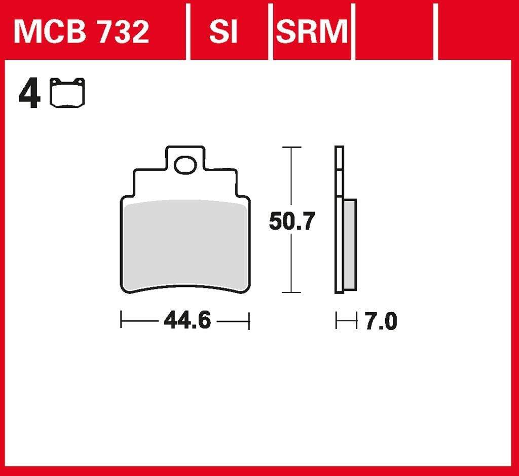 Bremsbelag TRW organischer Allround-Bremsbelag Maxxer 300 Wide RFBL30060 13-15 hinten