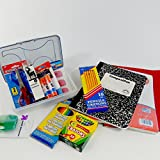 Back to school supplies box, school supply kit with essential classroom supplies, this pack includes headphones, notebooks, pencils. Perfect for beginning of the school year basic needs