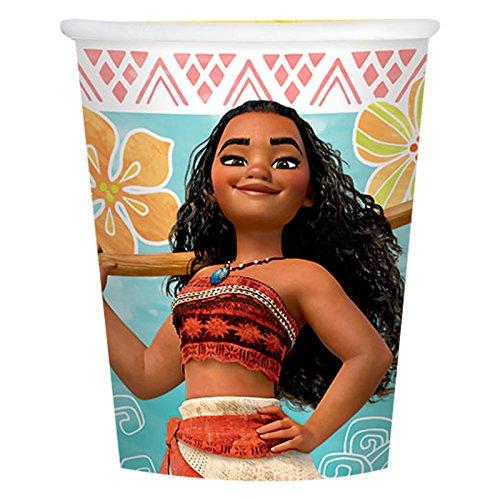 BirthdayExpress Disney Moana Party Supplies - 9oz Paper Cup (24) by BirthdayExpress