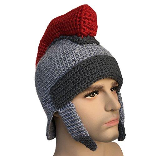 e0687d6b189 Kafeimali Men s Knight Knit Beard Hat Original Barbarian Warrior Halloween  Caps (Gary ...