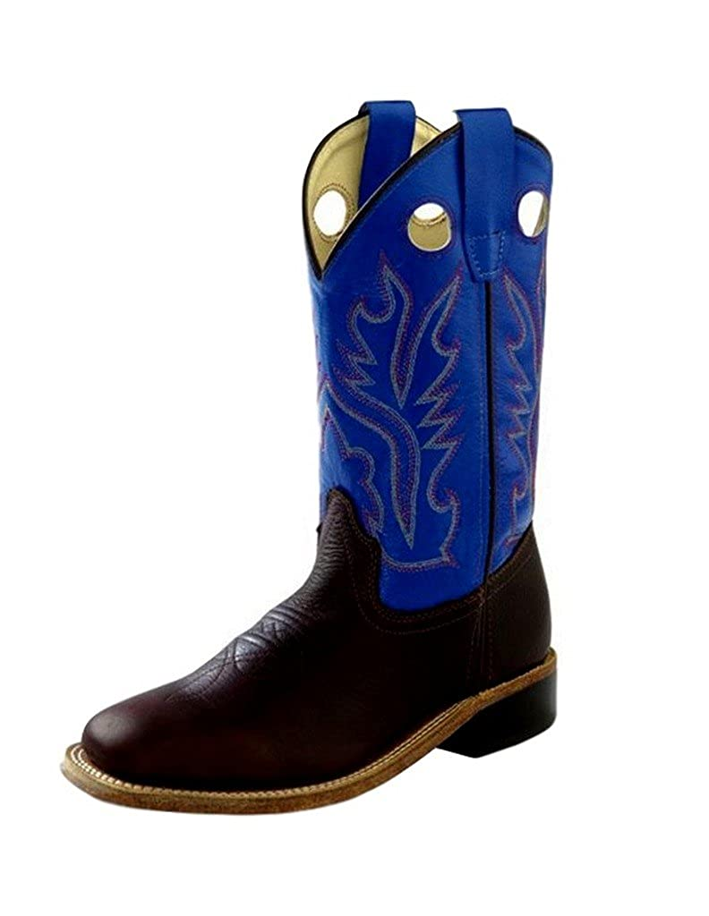 a0dc0fcca0d Old West Children's Corona Calf Leather Pull-On Boots - Thunder Oil Rust  Blue