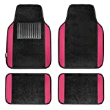 FH Group F14407PINK Premium Full Set Carpet Floor Mat (Sedan and SUV with Driver Heel Pad Pink)