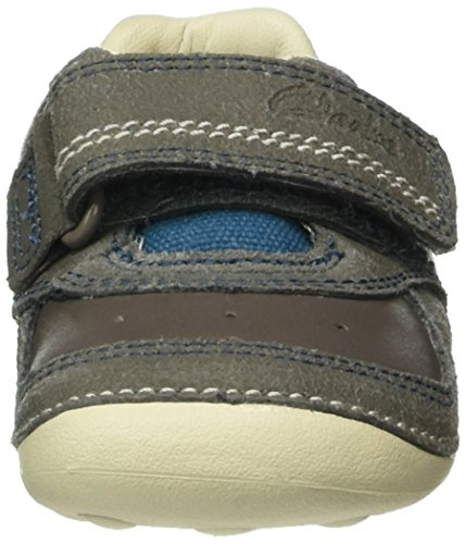 Clarks Tiny Tay - Zapatos para Bebé Gris (Grey Leather)