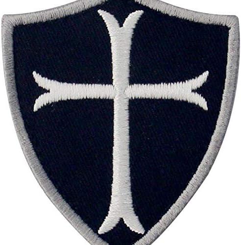 Caballeros Templarios Escudo cruzado Militar Moral Broche Bordado ...