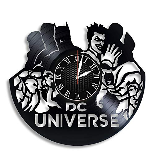 BombStudio DC Universe Online Vinyl Record Wall Clock, DC Universe Online Handmade for Kitchen, Office, Bedroom. DC Universe Online Ideal Wall Poster