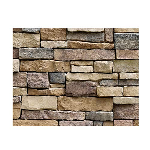 Fang-Ling Environmentally Friendly Wallpaper,3D Brick Stone Wall Sticker,Rustic Effect Self-Adhesive Wall Sticker Home Decor Door Stickers Counter Top Liners (A)