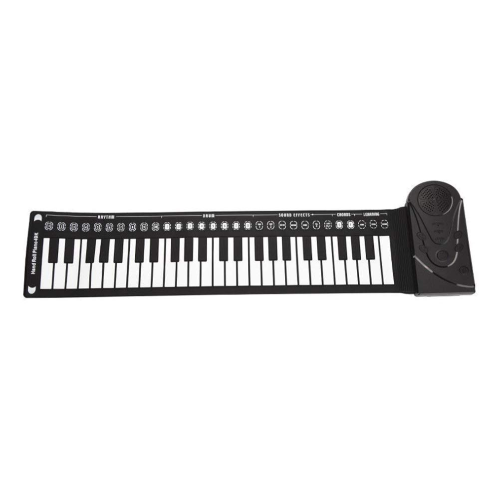 Electronic piano Electronic Digital Music Piano Educational Kid's 49 Keys Flexible Roll-Up Keyboard Portable Design With Recording Replaying Functions 16 Tones 10 Rhythm 6 Demo Songs Build-in Speaker by Shenghua1979-MU
