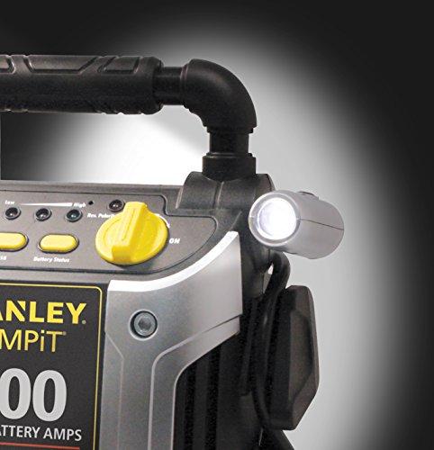STANLEY J5C09 Power Station Jump Starter: 1000 Peak/500 Instant Amps, 120 PSI Air Compressor,...