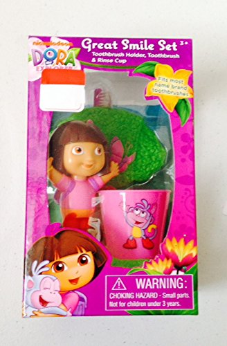 Dora the Explorer Great Smile Set: Toothbrush Holder, Toothb