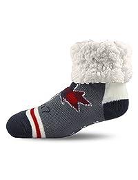 Pudus Unisex Classic Slipper Socks, Adult, Canada Grey