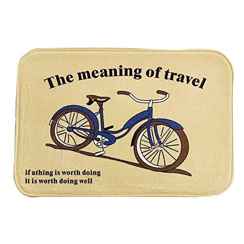 Soft Funny The Meaning of Travel Doormats Outdoor Indoor Antiskid Decor Doormat ES (Bonjour) (Gray)