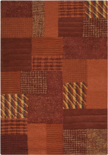 UPC 764262667257, Surya Hayden HDN-9002 Transitional Hand Tufted 100% Wool Light Copper 8' x 11' Patchwork Area Rug