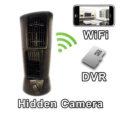 PalmVID WiFi Desk Fan Hidden Camera Spy Camera with Live Video Viewing