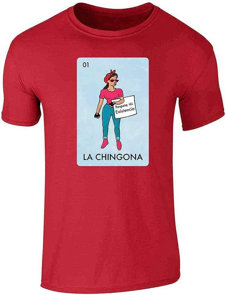 Pop Threads La Chingona - Camiseta para Hombre, diseño de lotería Mexicana
