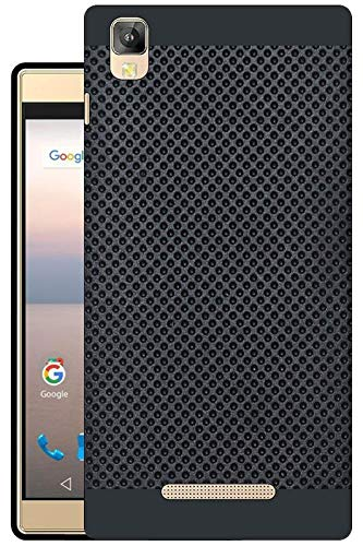 best service d533c f80b6 Hello Zone Exclusive Dotted Matte Finish Soft Back Case Cover for Panasonic  Eluga A2 -Black