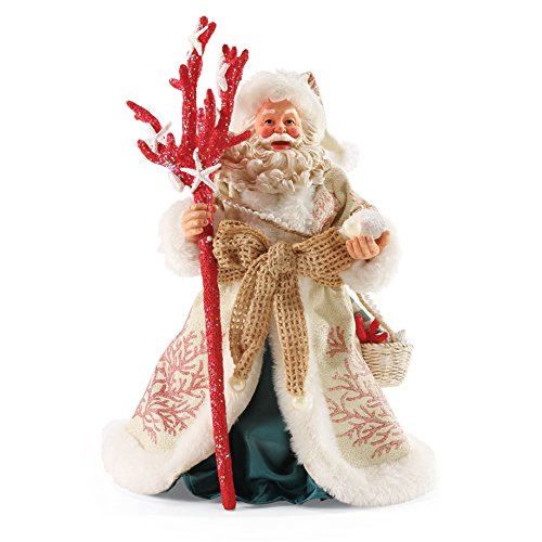 Department 56 Possible Dreams Coral Christmas Santa, 11'' by Department 56 (Image #1)