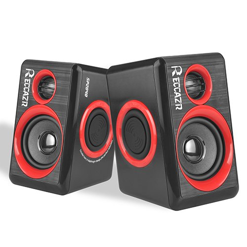 Surround Computer Speakers With Deep Bass USB Wired Powered Multimedia Speaker for PC/Laptops/Smart Phone RECCAZR Built-in Four Loudspeaker Diaphragm by RECCAZR (Image #7)'