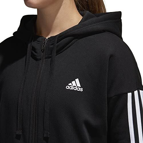 cómodo adherirse Escribe un reporte  adidas Women's Essentials 3 Stripes Full Zip Hoodie, Black/White, XSTP:  Amazon.ca: Sports & Outdoors