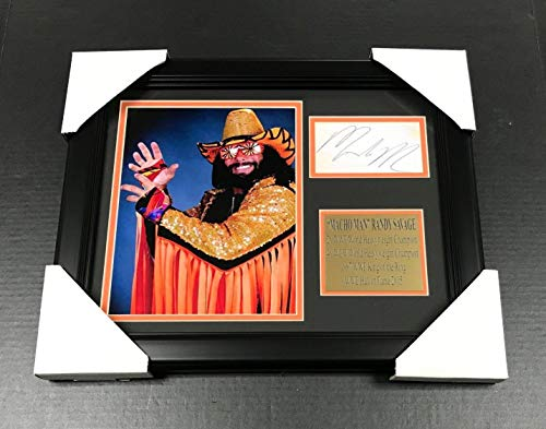 WWF WWE MACHO MAN RANDY SAVAGE Autographed Reprint 8x10 Photo Framed - Autographed Wrestling Miscellaneous -