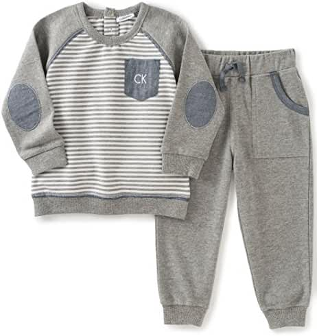 Calvin Klein Baby Boys' Pullover with Pockets Pants Set