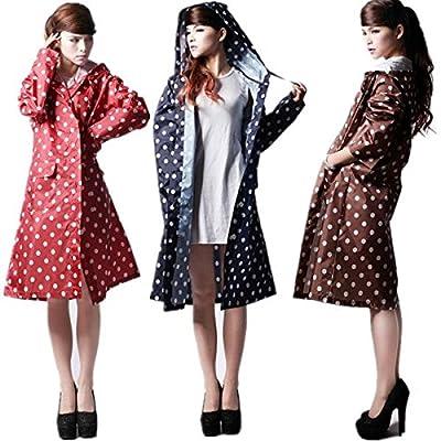 Women Girls Dot Travel Rain Coat Clothes Waterproof Rainwear Raincoat