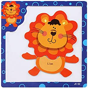 Funny Animal Magnet Lion Puzzle