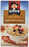 Quaker Instant Oatmeal, Maple Brown Sugar, 10 ct For Sale