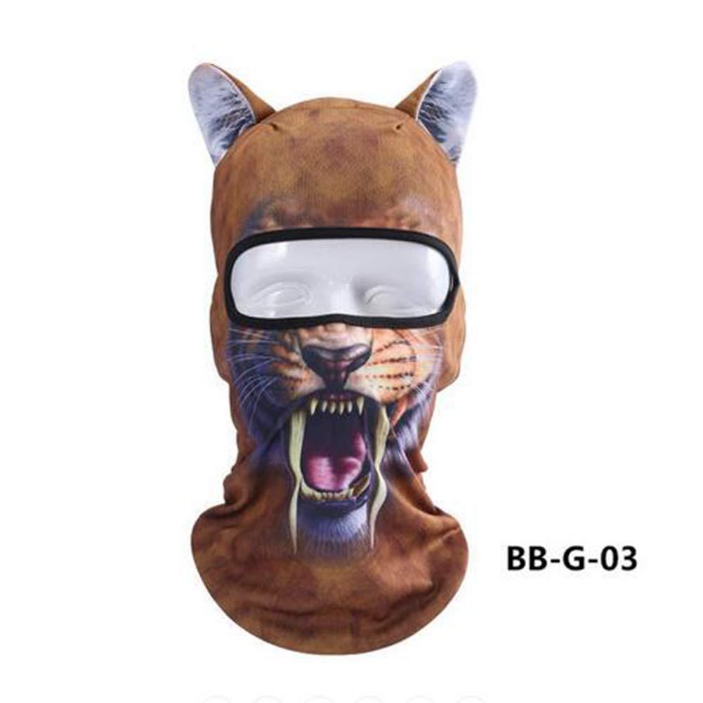 GOZAR Unisexe Moto Visage Masque 3D Animal Oreille Cagoule Cou Capot pour Halloween Fê te De Noë l Ski - 10
