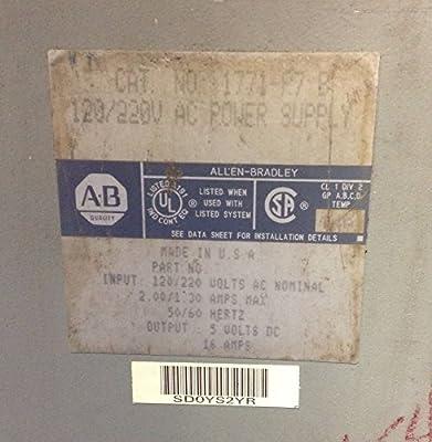 Allen-Bradley 1771-P7 B 120/220V AC POWER SUPPLY INPUT POWER VA T16076