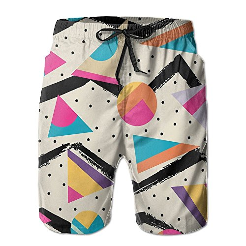 80s Memphis Fashion Style Summer Quick-Drying Swim Shorts