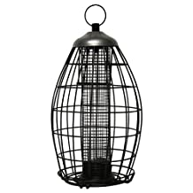Heath Outdoor Products 21216 Brass Squirrel Proof Nut and Seed Bird Feeder, Metal Pewter-Black