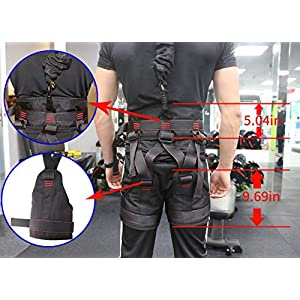 DASKING Heavy Bungee Cord Resistance Belt for Home Gym Yoga Bungee Rope Gravity Bungee Training Tool Ideal for Home Gym Studio (Weight Class -4)