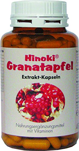 Hinoki Granatapfel Extrakt-Kapseln mit Antioxidantien, Vitamin B Komplex und Folsäure 110 Stück