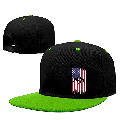JOWWX-CAP& Wrestling American Flag Mens Womens Snapback Baseball Cap Adjustable Flat Bill Hip Hop Cap by JOWWX-CAP&