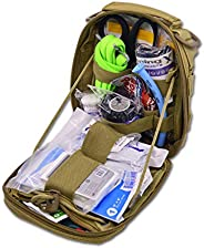 Lightning X Products Premium Nylon MOLLE Pouch Emergency Kit, Ideal for Tactical Medics, Military, Outdoor Ent
