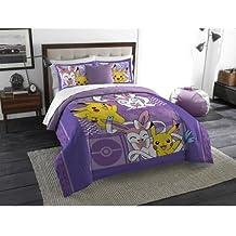 Pokemon Lavender Chu Twin/Full Bedding Comforter Set - Machine Washable