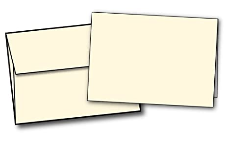 Amazon heavyweight cream natural off white half fold heavyweight cream natural off white half fold greeting cards envelopes m4hsunfo
