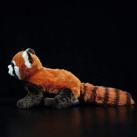 Spuik Lindo panda rojo muñeca estatuilla Simulación Red Panda Animal muñeca Simulación Red Panda suave del juguete de Ragdoll del animal relleno del juguete de felpa for el regalo de cumpleaños de vac