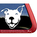 Smiling American Pit Bull Terrier Dog Rescue Car Truck Window Decal Sticker